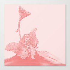 Fantasy  Fairy in Pink Canvas Print