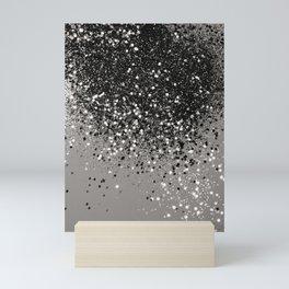 Silver Gray Glitter #1 #shiny #decor #art #society6 Mini Art Print