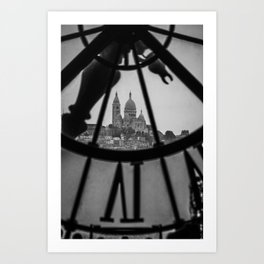 View of Montmartre from Musee D'Orsay Art Print