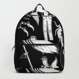 Happy Monsters (in black) Backpack