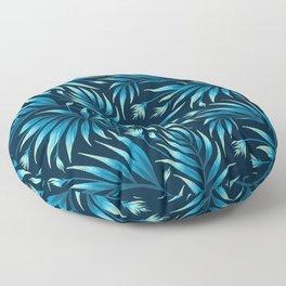 Waikiki Palm - Petrol Blue Floor Pillow