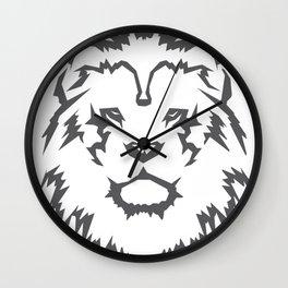 Leo Grey Wall Clock