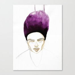 Morgan's Hair is on Purple Fire Canvas Print