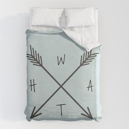 WHAT Compass? Duvet Cover