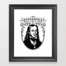 Fuck Yeah Paganini Framed Art Print