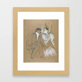 "Henri de Toulouse-Lautrec ""Lucien Guitry et Jeanne Grânier"" Framed Art Print"