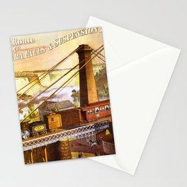 Vintage poster - Niagara Falls Bridge Stationery Cards