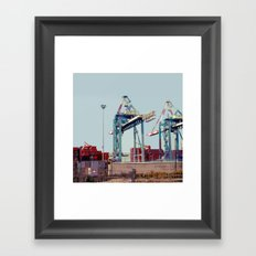 The Port Framed Art Print