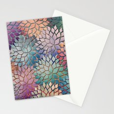 Abstract Floral Petals 4 Stationery Cards