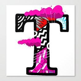 initial T Canvas Print