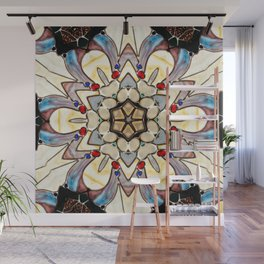 Vintage Stained Glss Abstract Wall Mural