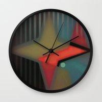 alaska Wall Clocks featuring Alaska by Kristine Rae Hanning