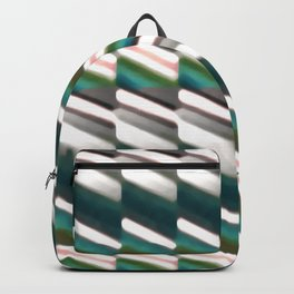 Geo Stripes Print Pattern Backpack