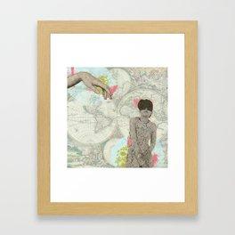 Feminine Collage I Framed Art Print