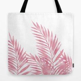 Palm Leaves Pink Tote Bag