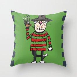 Cat Freddy Throw Pillow