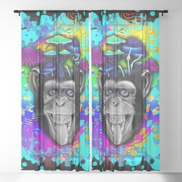 STONED APE THEORY Sheer Curtain