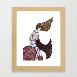 The Windy Knitter Framed Art Print