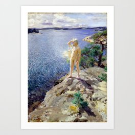 Anders Zorn In the Skerries Art Print