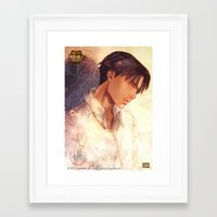 snk Framed Art Prints featuring SNK - Levi by T.Wolv