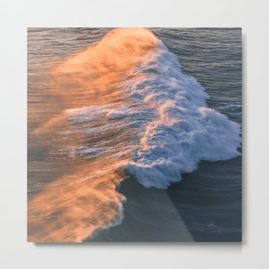 Crashing Ocean Waves Metal Print