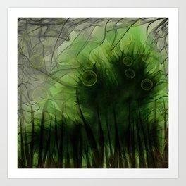 Radioactive Caterpillar Art Print