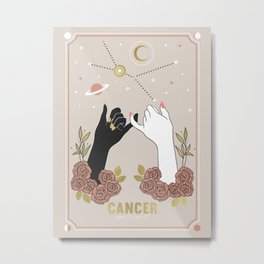 Cancer Zodiac Series Metal Print