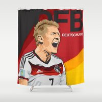 world cup Shower Curtains featuring Germany World Cup 2014 by TheColorK