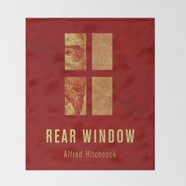 REAR WINDOW - Hitchcok Poster Throw Blanket
