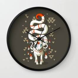 Long Tail Fox Wall Clock