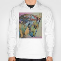 study Hoodies featuring Horse Study by Michael Creese