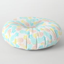 Colorful pineapple pattern Floor Pillow