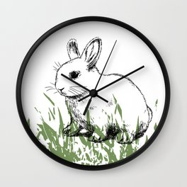 Cute bunny kids decor Wall Clock