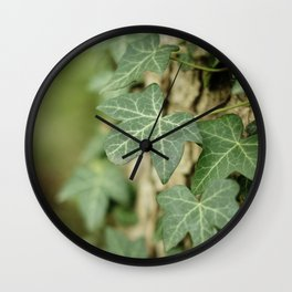 Green Ivy leaves climbing a tree in the forest | The Netherlands | Color Photography | Nature photography | Photo Print | Art Print Wall Clock