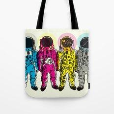 CMYK Spacemen Tote Bag