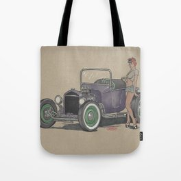 T-bucket Girl Tote Bag