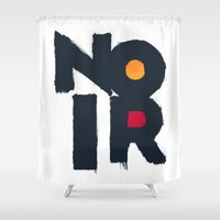 noir Shower Curtains featuring Noir by sonsofwolves