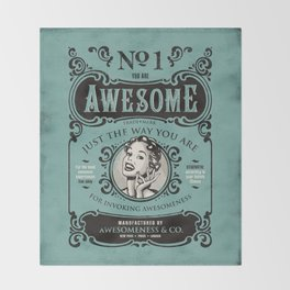 Awesomeness Throw Blanket
