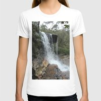 waterfall T-shirts featuring waterfall by LynsArtStudio