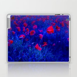 Red in Blue Laptop & iPad Skin