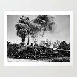 Southern Pacific Steam Locomotive Near Kearney & Liberty Missouri Art Print