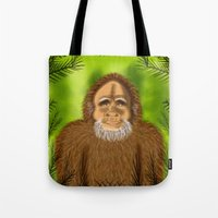 yeti Tote Bags featuring Yeti by Designs By Misty Blue (Misty Lemons)