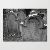 jewish Canvas Prints featuring Jewish Cemetary, Worms Germany by Sugar Skulls Photography
