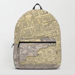 Vintage Map of Edinburgh Scotland (1901) Backpack