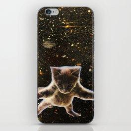 Kitten. In. Space. iPhone Skin