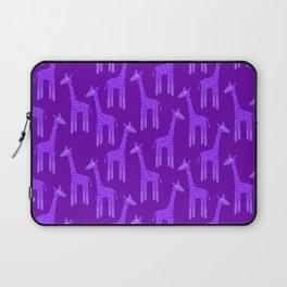 Giraffes-Purple Laptop Sleeve
