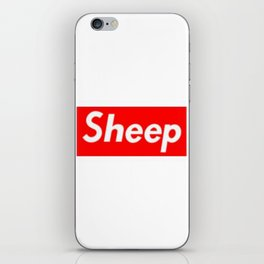 Sheep (Supreme) Box Logo iPhone Skin