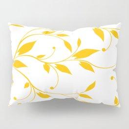 FLOWERY VINES | white yellow Pillow Sham