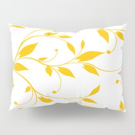 FLOWERY VINES | white yellow Pillow Sham