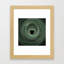 Valentine's Fractal II - Dark Framed Art Print